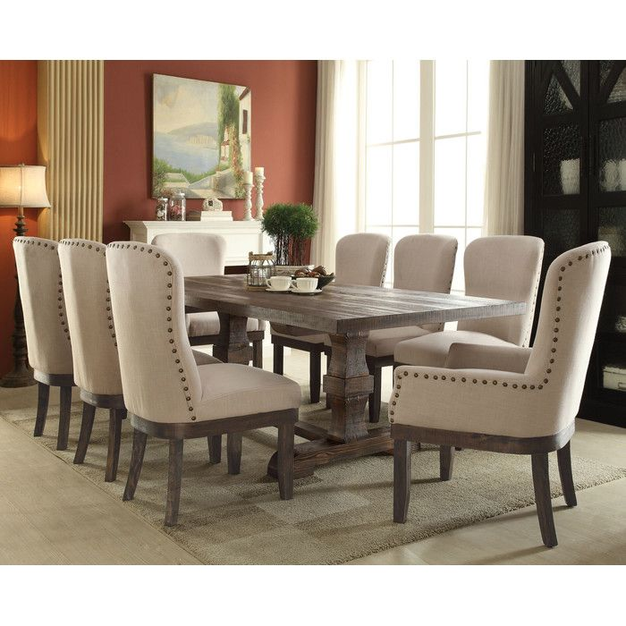 Mulhouse 9 Piece Dining Set  Dining Sets Nail Head And Dining Area Amazing 9 Piece Dining Room Design Inspiration