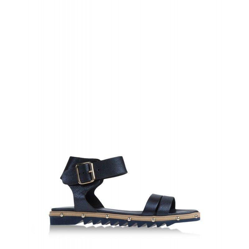AGL Attilio Giusti Leombruni Navy Leather Sandal