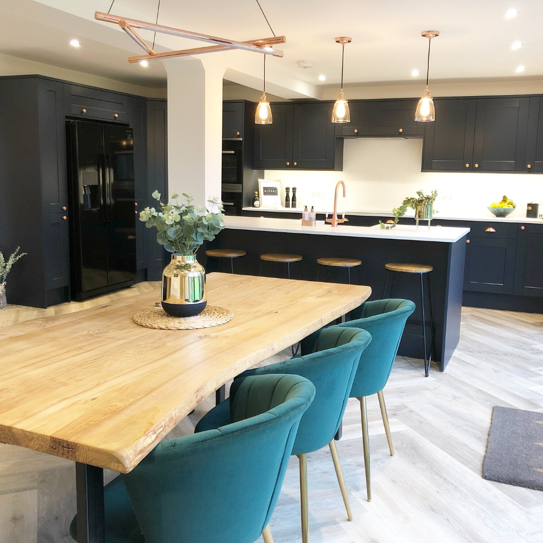 Fairford Navy Kitchen In 2020 Open Plan Kitchen Dining Li