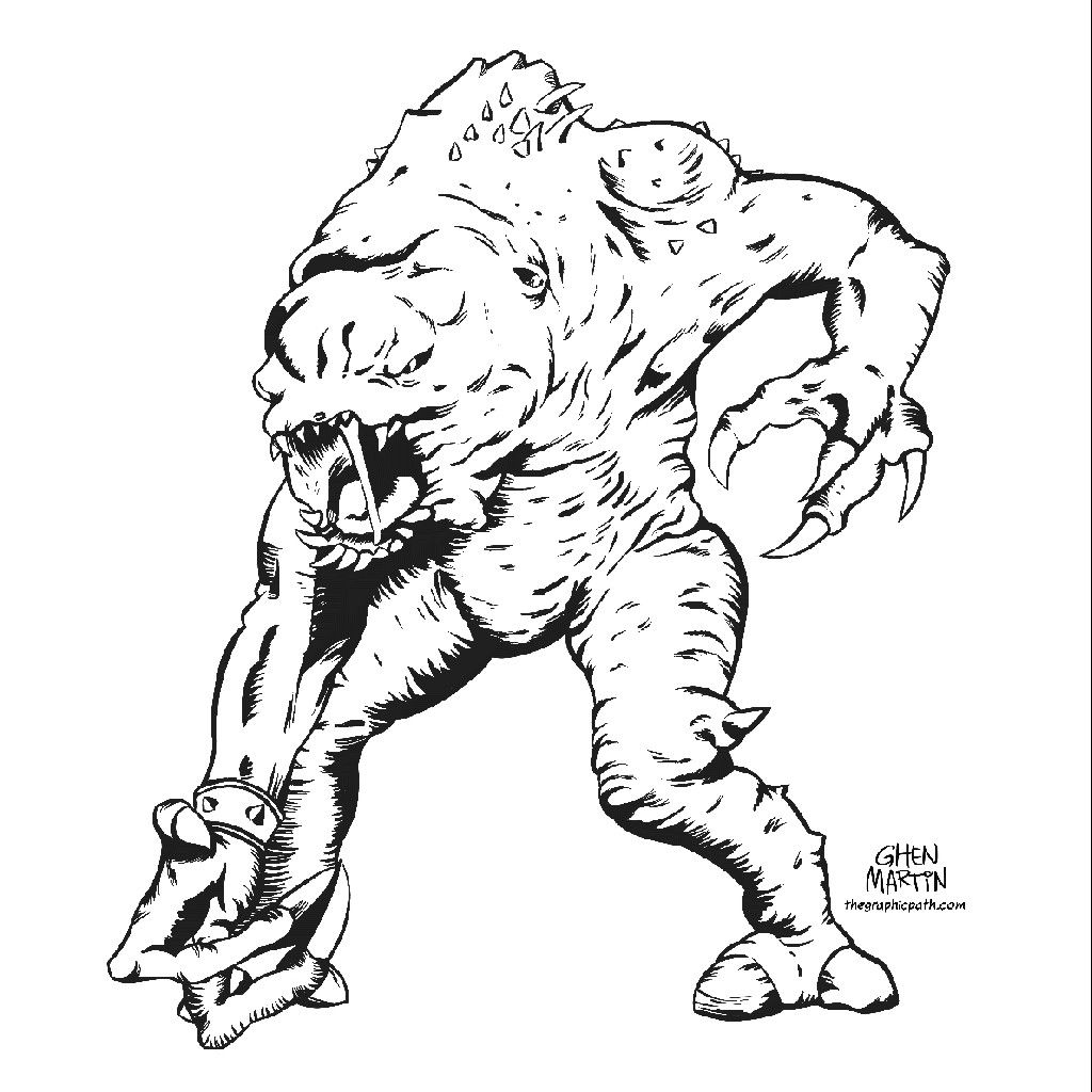Pin by Traropa Customs on Rancor   Sketches, Coloring ...