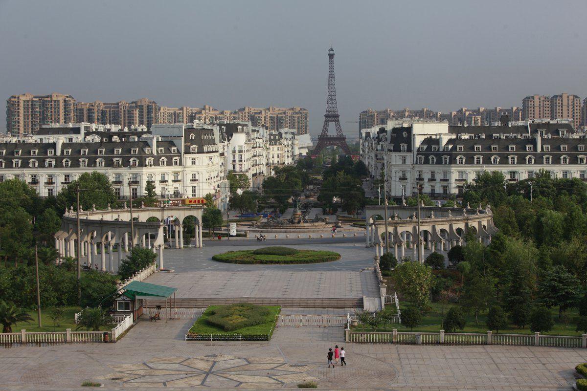 Tianducheng - a Paris replica in Zhejiang, China