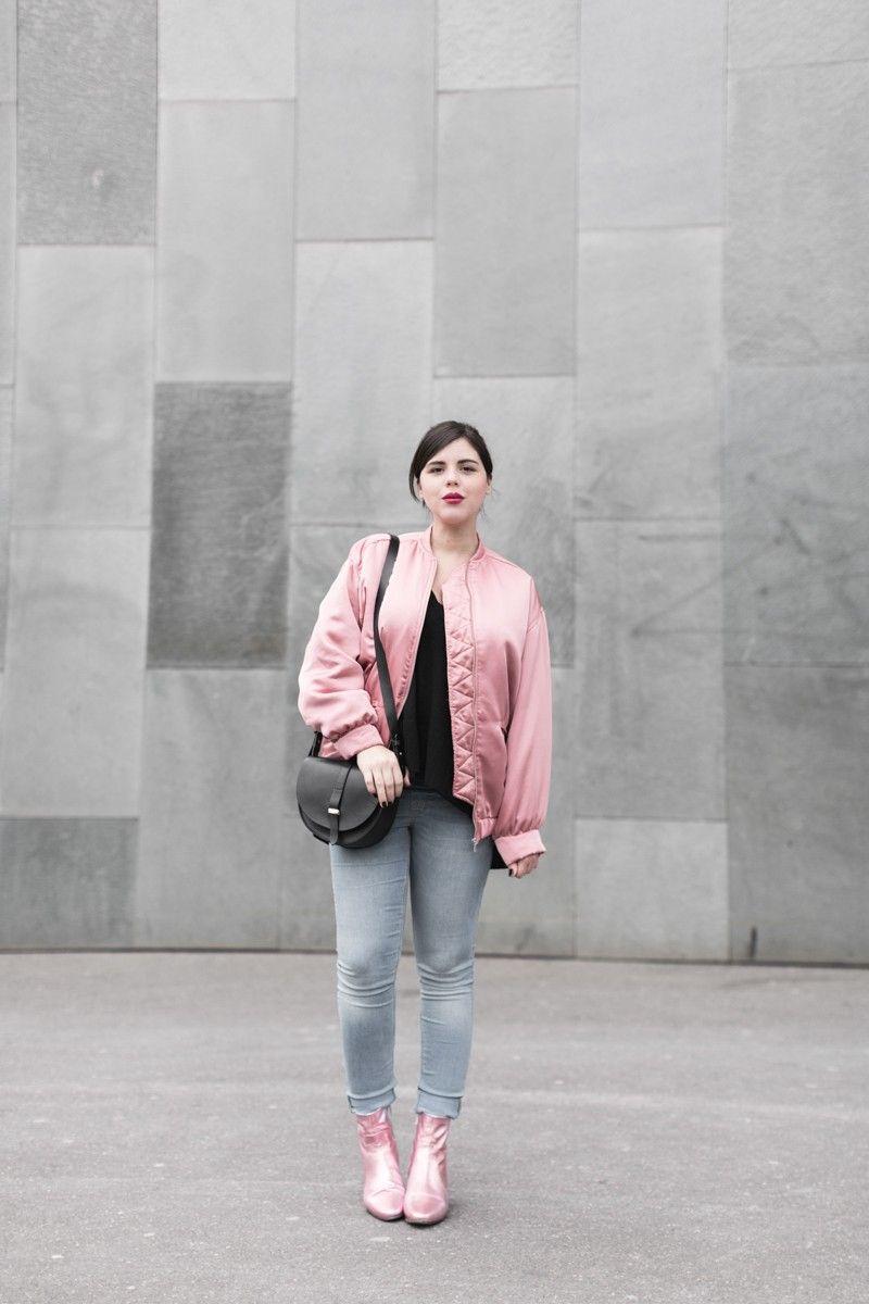 Pink Chaussure Bomber MangoPoudré Satin Rose Carnet sQrohtCBdx