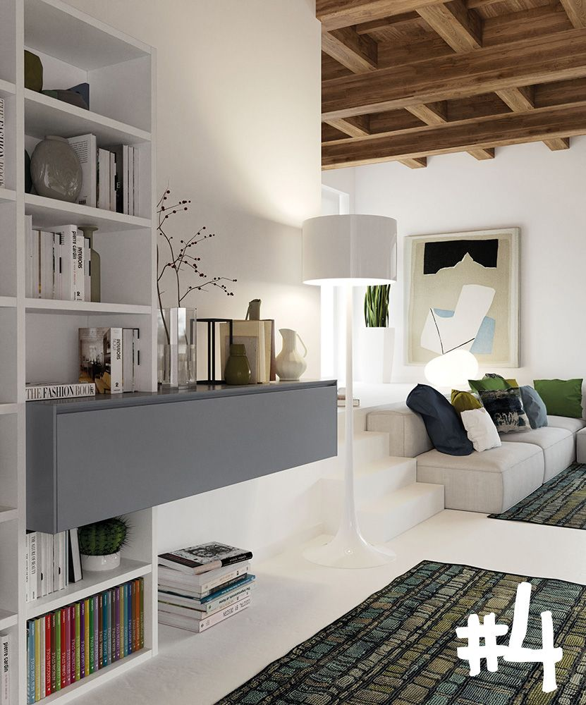Arredamenti Interni Case Moderne ancient beams that become a natural frame for a space where