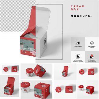 Download Cosmetic Jar Box Mockups | Box mockup, Cosmetic jars, Psd ...