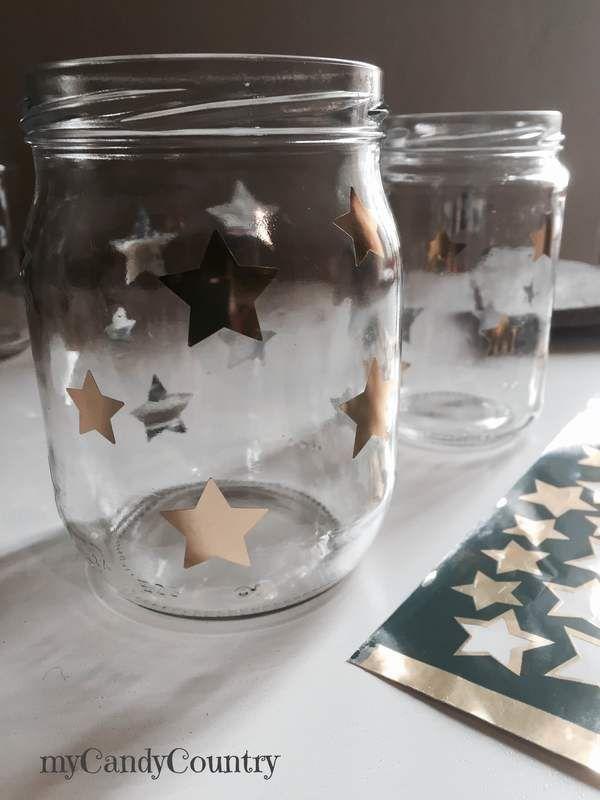 Riciclo creativo barattoli decorati per natale candele home decor natale fai da te riciclo - Bicchieri decorati per natale ...