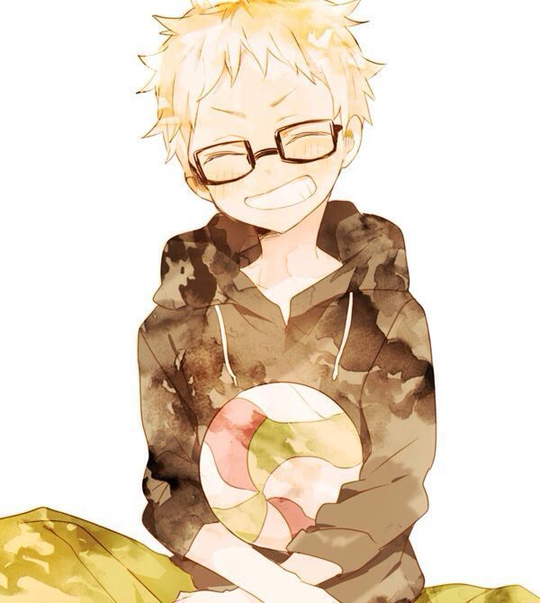 Haikyuu!! - Kei Tsukishima. Even tho he's a butt I can't stop fangirling of how cute this pic is!