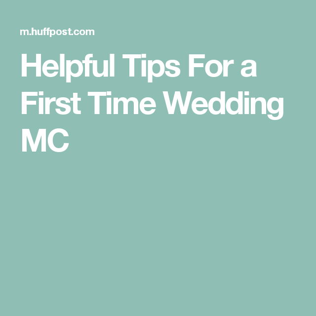 Helpful Tips For A First Time Wedding Mc Script