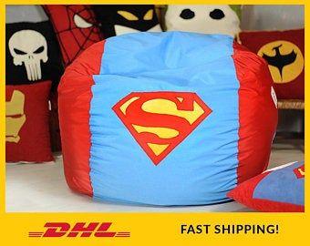 Batman bean bag chair cover, Batman bean bag chair, Lounge chair, Batman gift, Dark Knight, Comic gift, Batman pouf, Christmas boyfriend #superherogifts