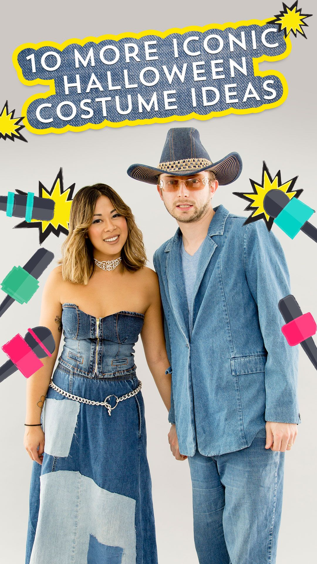 3dc6aef7f6c96 You can dress up in Britney Spears  jean dress with the help of this DIY  Halloween costume tutorial.