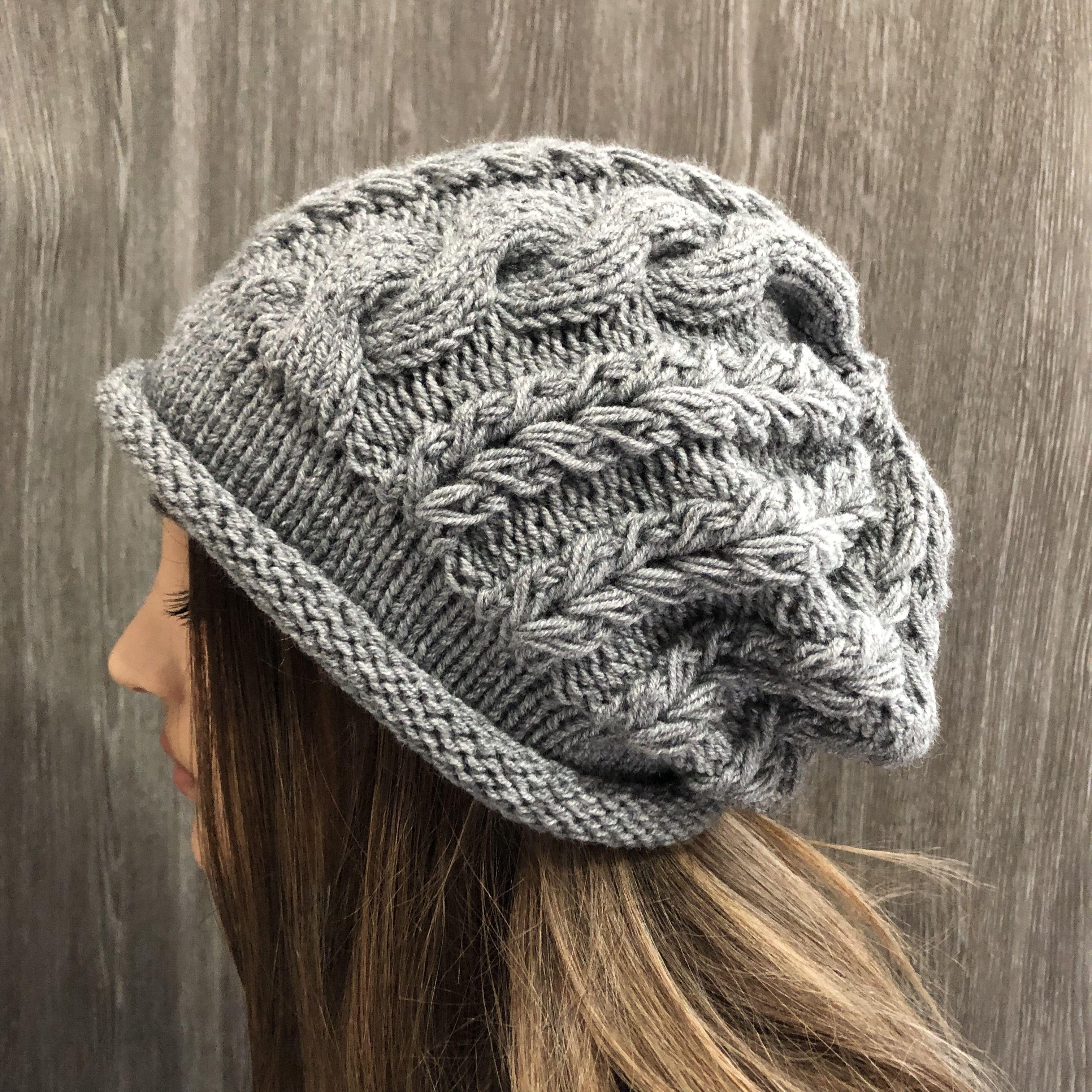 Boho hat Slouchy beanie Crochet hat Womens gift Women knit hat Crochet hat Winter hat Cable Knit Beanie Multicolor Slouchy hat