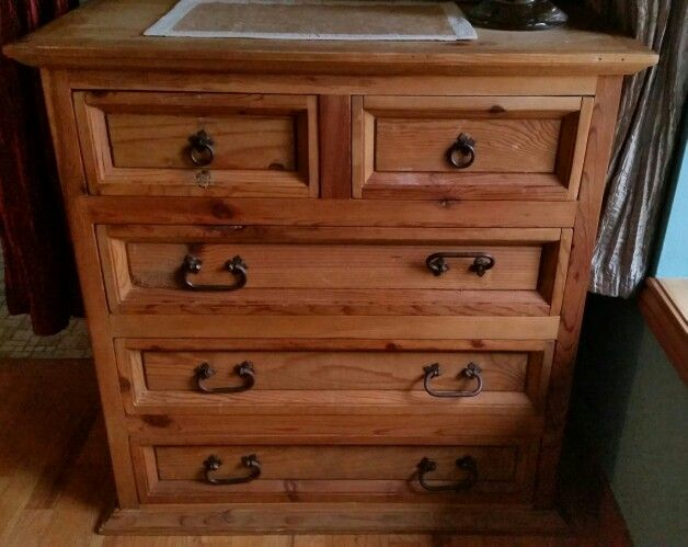 Pier 1 One Imports 5 Drawer Dresser 1999 Santa Fe Collection Rustic Mexican Pine Furniture 450