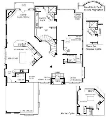 Floorplan Detail Grand Homes New Home Builder In Dallas And Ft Worth Texas Kennedy Lane Interior Design Craftsman Floor Plans Floor Plans Grand Homes