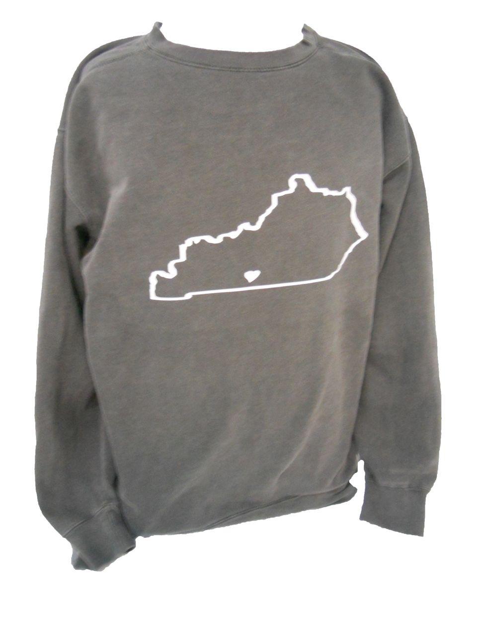 Comfort Colors Crewneck Sweatshirt With State Outline Gonegreek Yes Yes Yes Comfort Colors Crew Neck Sweatshirt People Clothes [ 1280 x 960 Pixel ]