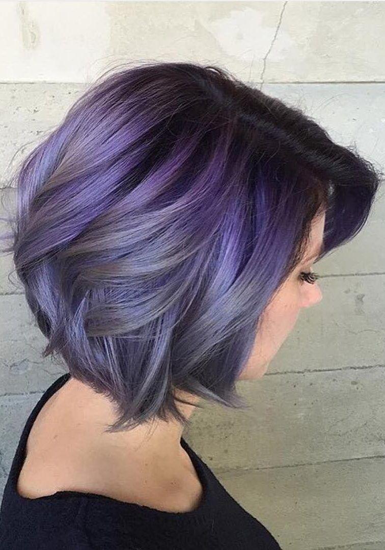 29 trendsetting purple hair color ideas for short hair for