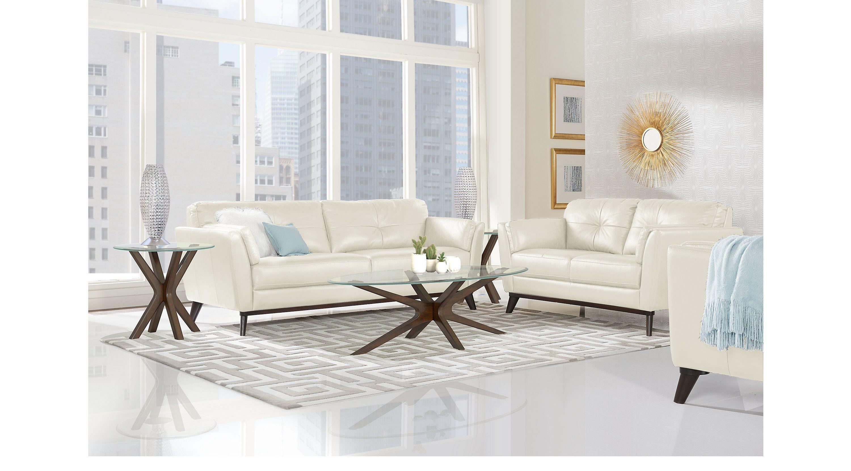 Sofia Vergara Gabriele Buff 5 Pc Leather Living Room Living Room Sets Beige Living Room Sets Furniture Living Room Leather Leather Living Room Set #sofia #vergara #living #room #set