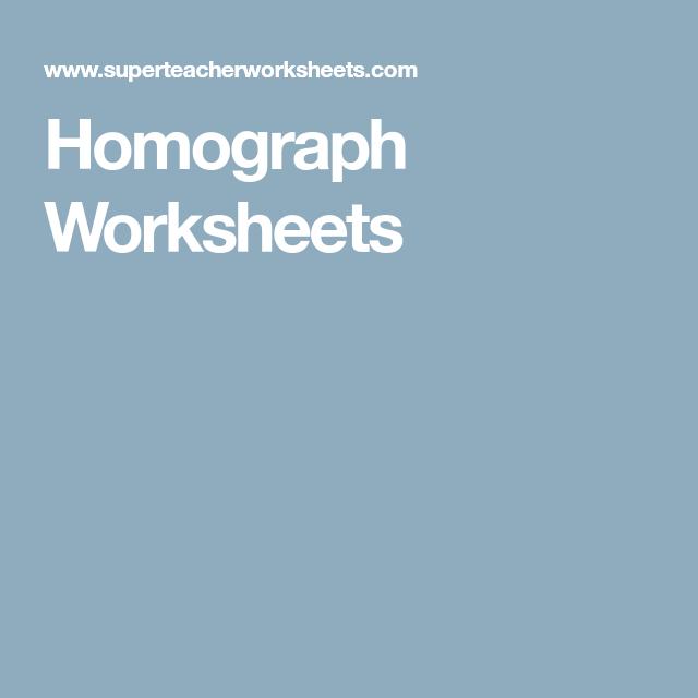Homograph Worksheets Homo Heterographshomophones Polysemes