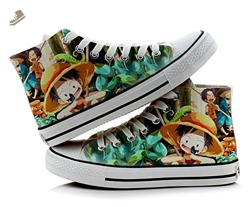 One Piece Luffy Cosplay Shoes Canvas Shoes Sneakers Colourful 4
