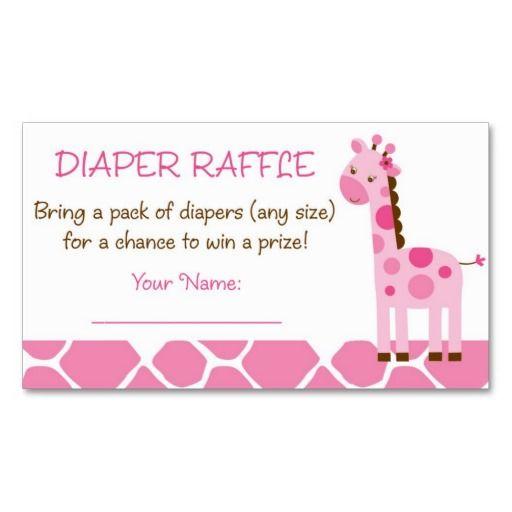 Pink Giraffe Diaper Raffle Tickets | Pink giraffe, Raffle tickets ...