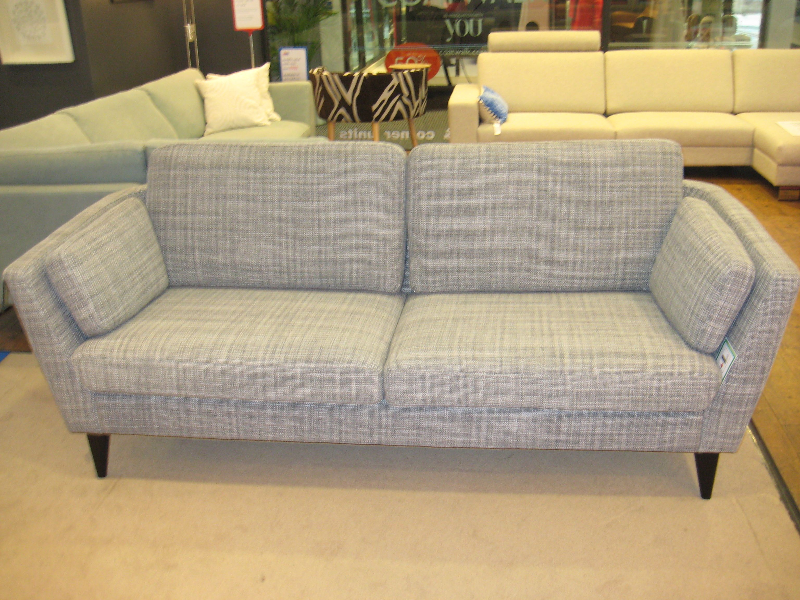 Retro Styling With Light Grey Check Fabric This Jasmine Sofa Is Available In Three Widths