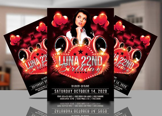 red party invitation nightclub partie invitation red party flyer