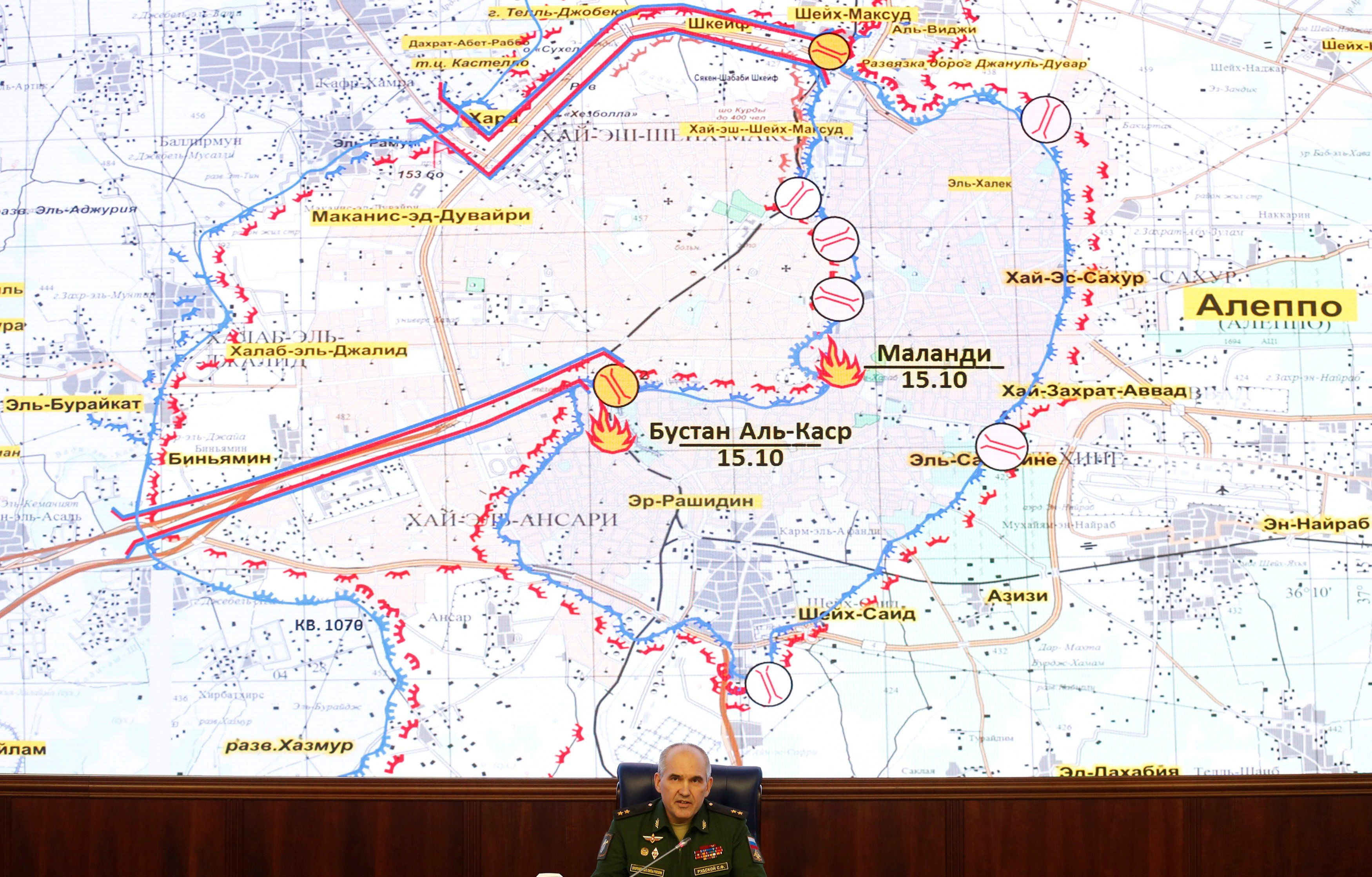 Sergei Rudskoy, Russia's General Staff main operations directorate chief, has announced that Russian and Syrian forces will pause their siege of ISIS held Aleppo for eight hours Thursday to allow jihadists and civilians to flee.