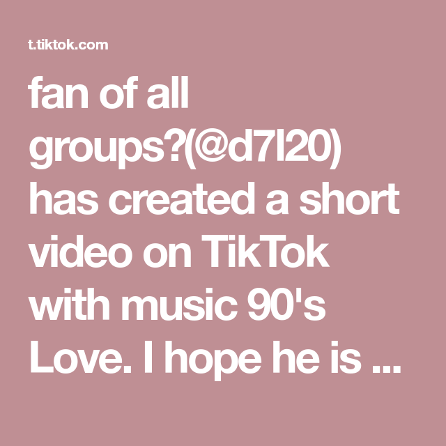 Fan Of All Groups D7l20 Has Created A Short Video On Tiktok With Music 90 S Love I Hope He Is Ok Nct Fypシ