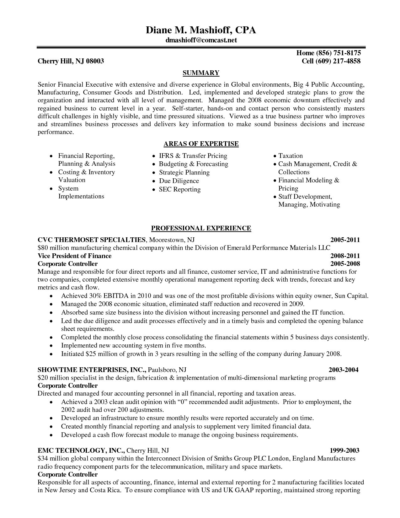 Resume Examples Big 4 Accounting | Pinterest | Resume examples