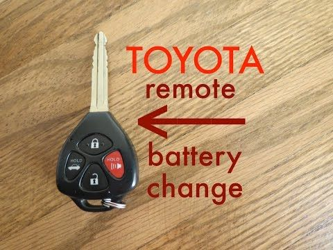 How To Toyota Key Fob Remote Keyless Battery Change Replace Youtube Car Battery Charger Battery Toyota