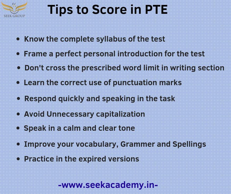 PTE #Tips #Score #Tricks #SeekAcademy | Seek Academy | Ielts