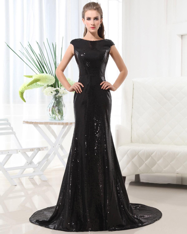 Simple Elegant 2015 Women Summer Wedding Dresses Flowing: Sleeveless Sequins Floor Length Celebrity Dress Sheath