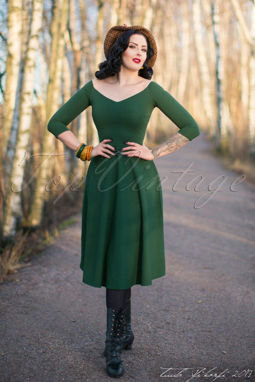 50s Patsy Swing Dress In Vintage Green Dresses Swing Dress Vintage Inspired Dresses [ 1530 x 1020 Pixel ]