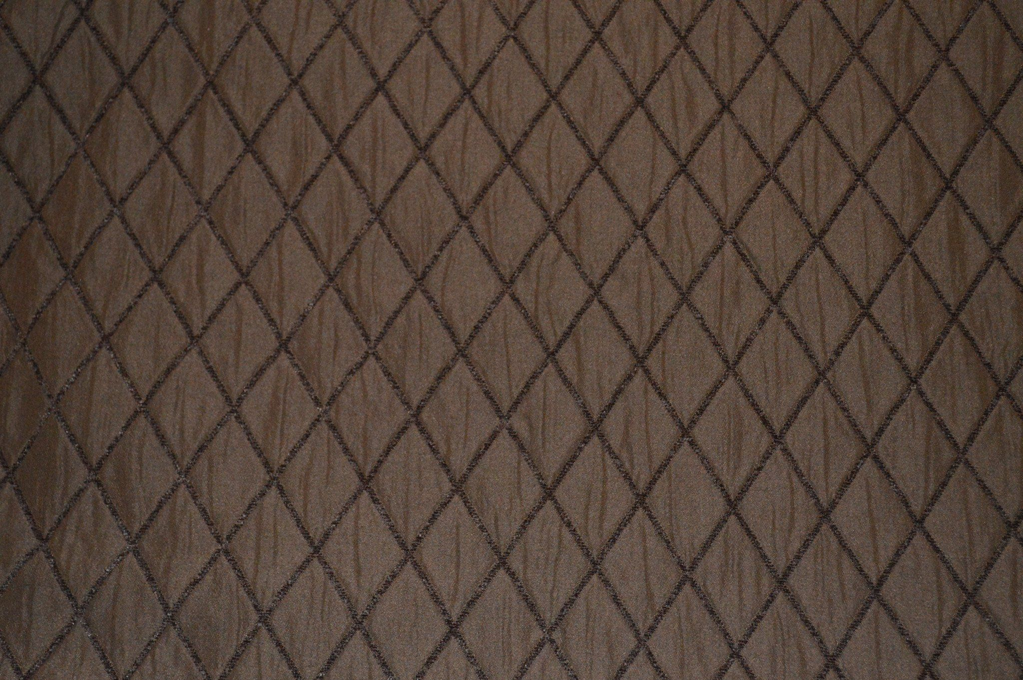 Quilted Upholstery Fabric Diamond Cocoa Sold By The Yard