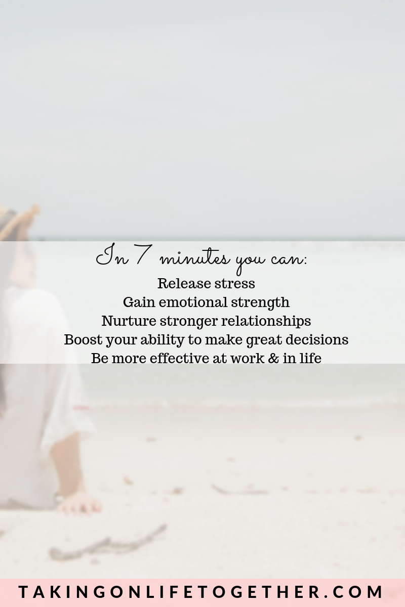 In 7 Minutes You Can Release Stress Gain Emotional Strength Nurture Stronger Relationships Boost Your Emotional Strength Release Stress Strong Relationship
