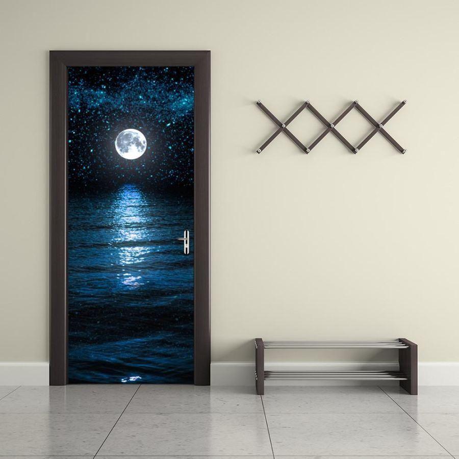 D moon and sea vinyl wall door decal products pinterest
