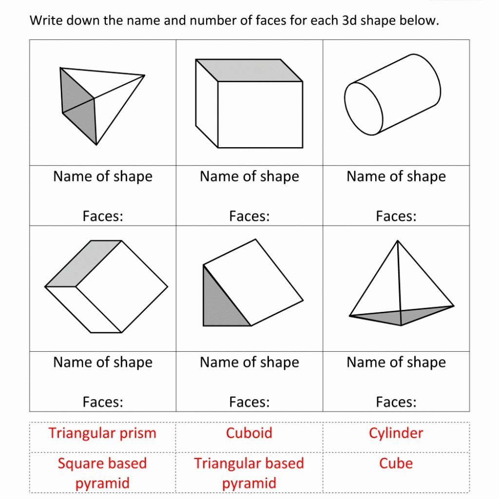 3d Shape Properties Sheet