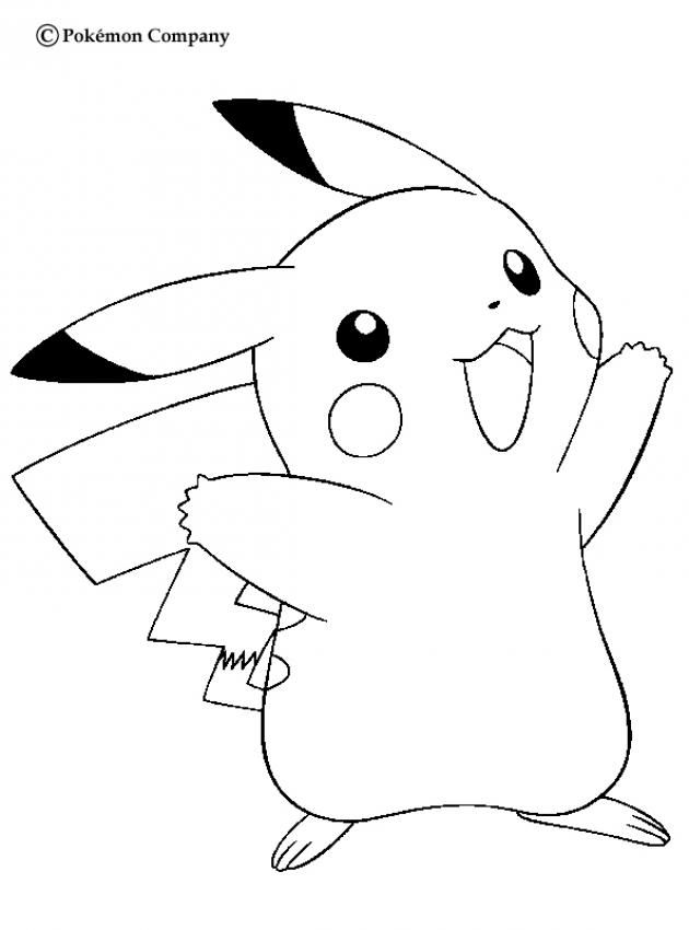 Happy Pikachu Pokemon coloring page. More Eletric Pokemon Coloring ...