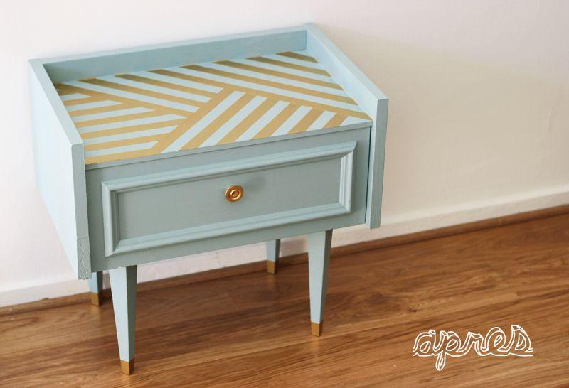 peinture meuble DIY Meubles peints Pinterest Mid century - Peindre Table De Chevet