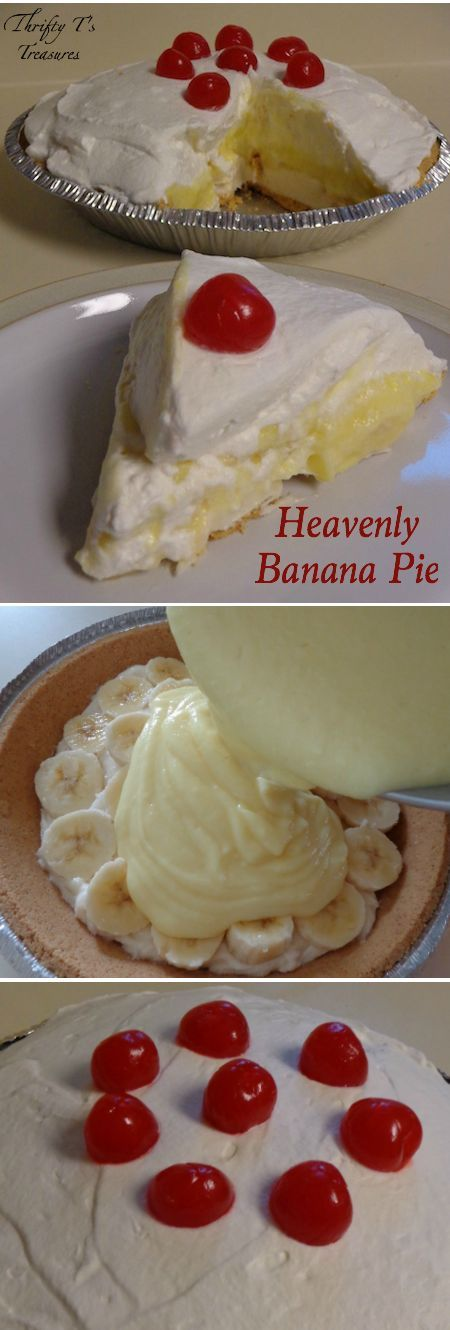 Heavenly Banana Pie - Tshanina Peterson #bananapie