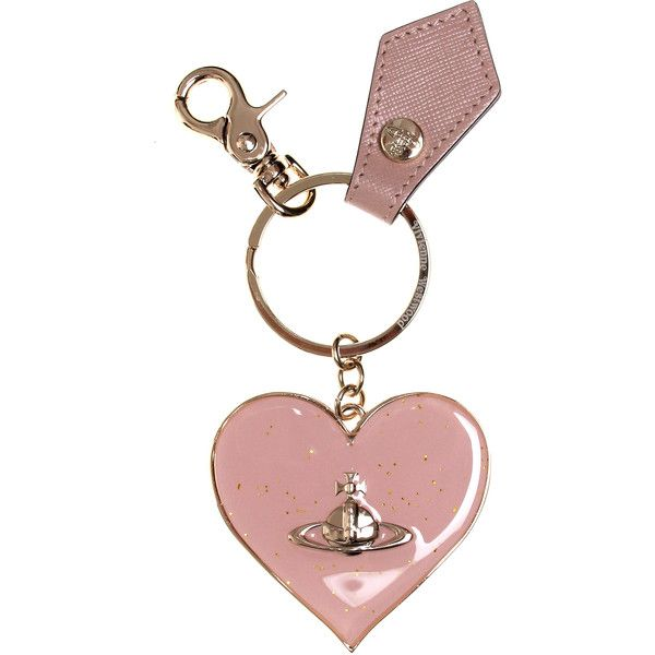 Vivienne Westwood Mirror Heart 321489 Keyring (£48) ❤ liked on Polyvore featuring accessories, heart shaped key ring, heart key ring, leather key ring and vivienne westwood