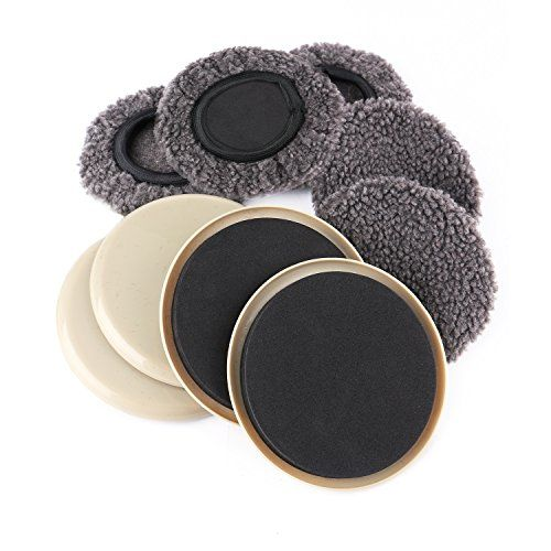 Furniture Slider 5 Pack Inch Round Reusable Sliders For Hard Surfaces Carpet Sock Plastic Movers