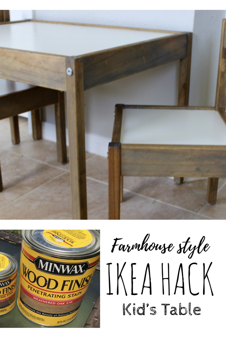Stain Or Paint This Super Cheap Ikea Kid S Table To Make It Match Your Decor Ikea Kids Table Kids Table Redo Ikea Toddler Table [ 1102 x 735 Pixel ]
