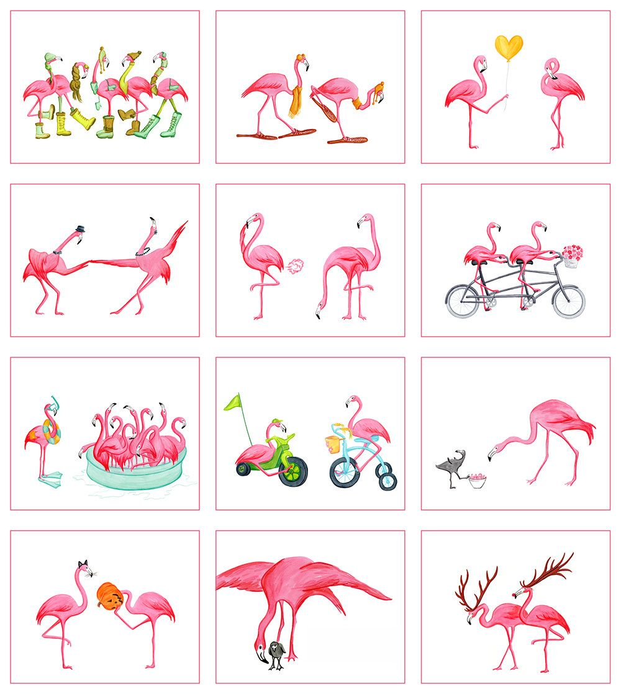 Pink Flamingo 2015 Calendar In English Flamingo Art Pink Flamingos Flamingo Pictures