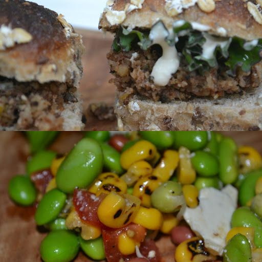 Green With Renvy Meatless Monday. Delicious, and healthy recipes. You won't miss the meat! Mushroom Croquettes with succotash.