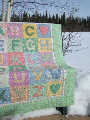 Alphabet Baby Quilt   Patchwork & Quilting   Pinterest   Babies ... : alphabet baby quilt pattern - Adamdwight.com