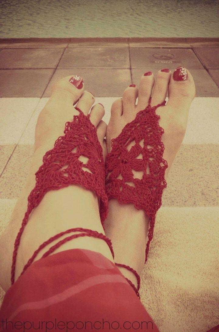 Barefoot Sandals A Free Crochet Pattern   Pinterest