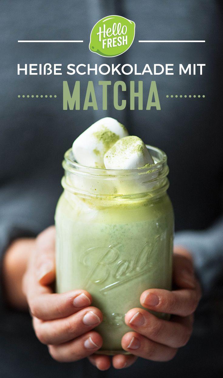Rezept für eine Tasse heiße Schokolade mit Matcha | Rezept ...