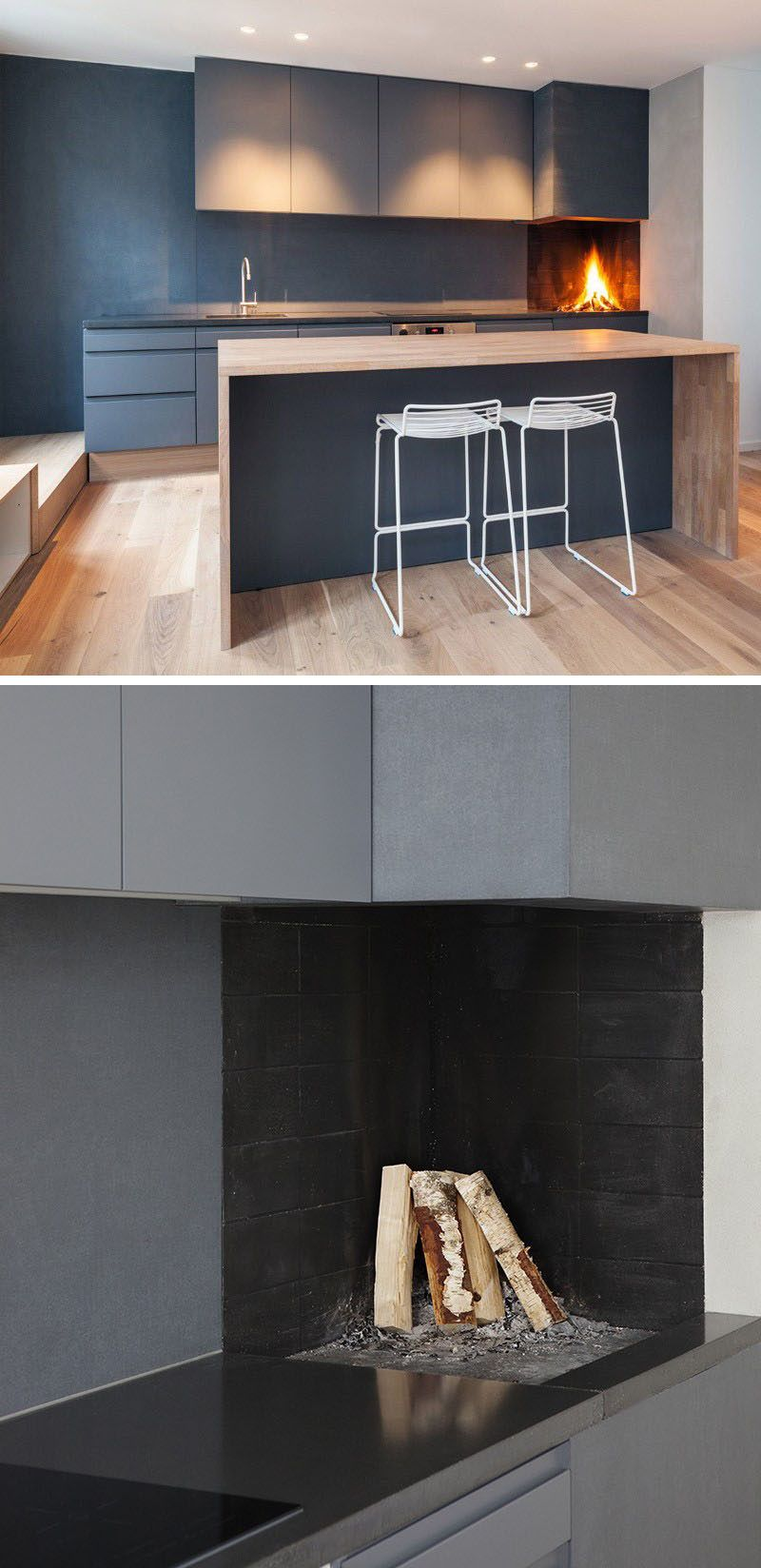 Kitchen design idea include a builtin wood fire oven in your
