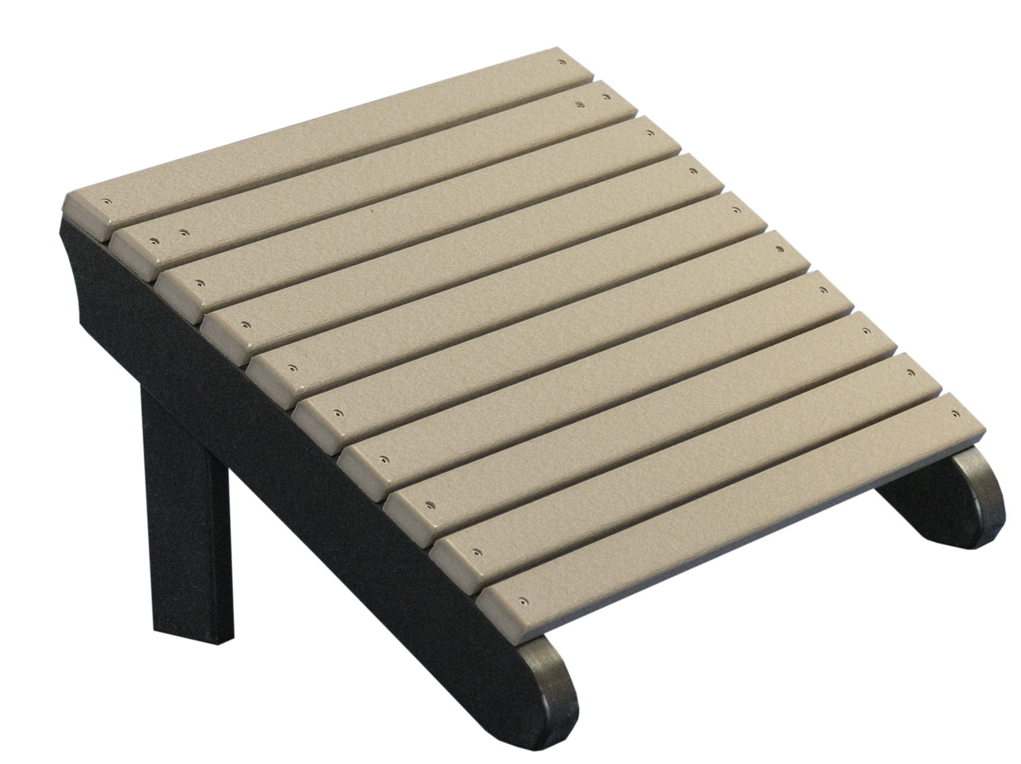 Luxcraft recycled plastic deluxe adirondack footrest footrest and