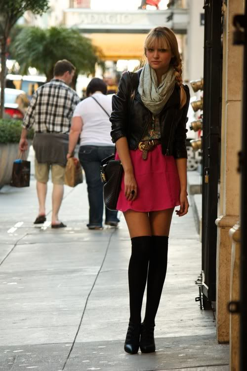 skirts and knee high socks i if i could pull this