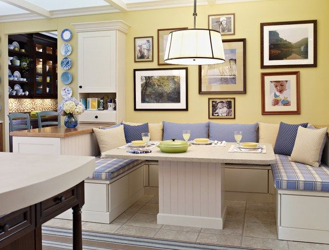 Kitchen And Breakfast Room Design Ideas Endearing Country Yellow Breakfast Nook Traditional Kitchen Corner Breakfast Inspiration